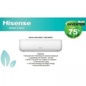 hisense hbv1200hc 1 ton 75 percent inverter ac