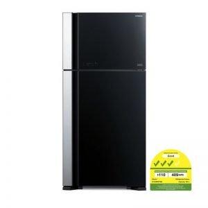 hitachi rvg690 glass door refrigerator