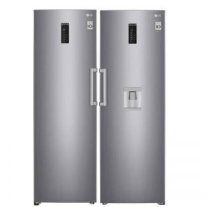 lg pigeon pair vertical fridge and freezer